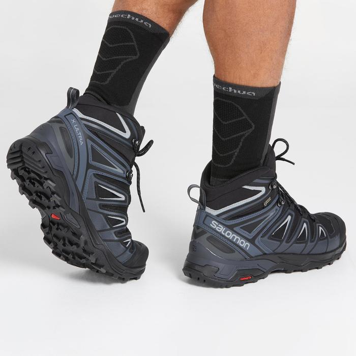 Wanderschuhe X-Ultra Mid Gore-Tex Herren schwarz