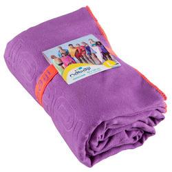 Zeer compacte microvezel handdoek cinablauw maat L 80 x 130 cm - 156994