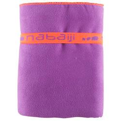 Zeer compacte microvezel handdoek cinablauw maat L 80 x 130 cm - 156999