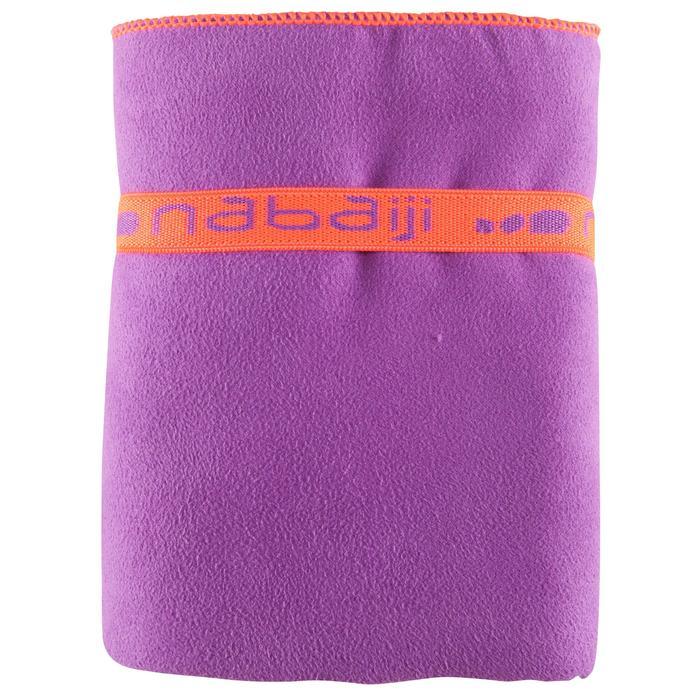 Serviette microfibre violette ultra compacte taille L 80 x 130 cm