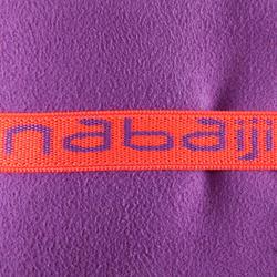Zeer compacte microvezel handdoek cinablauw maat L 80 x 130 cm - 157004