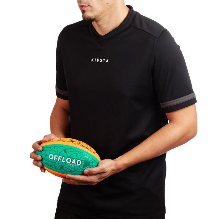 Balón de rugby Beach 100 TIKI midi naranja y verde