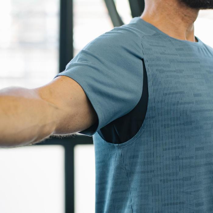 T-Shirt Free Move 540 Pilates Gym douce homme gris foncé AOP