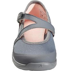 Meisjes ballerina's voor wandelen PW 160 Br'easy grijs / koraal