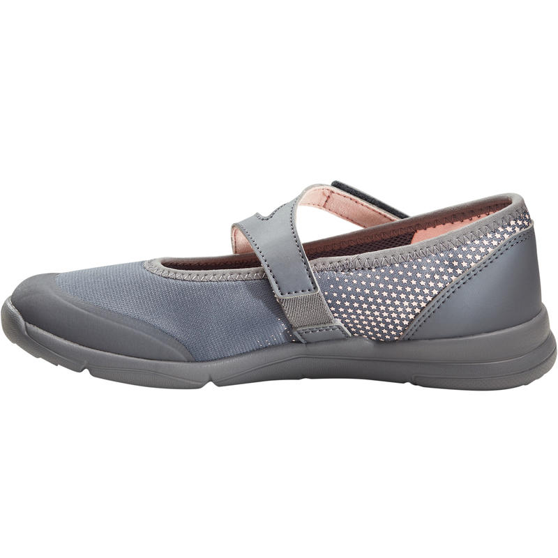Girls' Walking Shoes PW 160 Br'easy - Grey/Coral