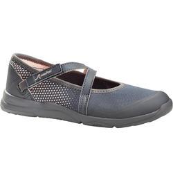 Zapatillas de marcha niña PW 160 Br'easy grises / corales