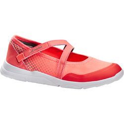Calçado de Caminhada Desportiva Menina PW 160 Br'easy Coral