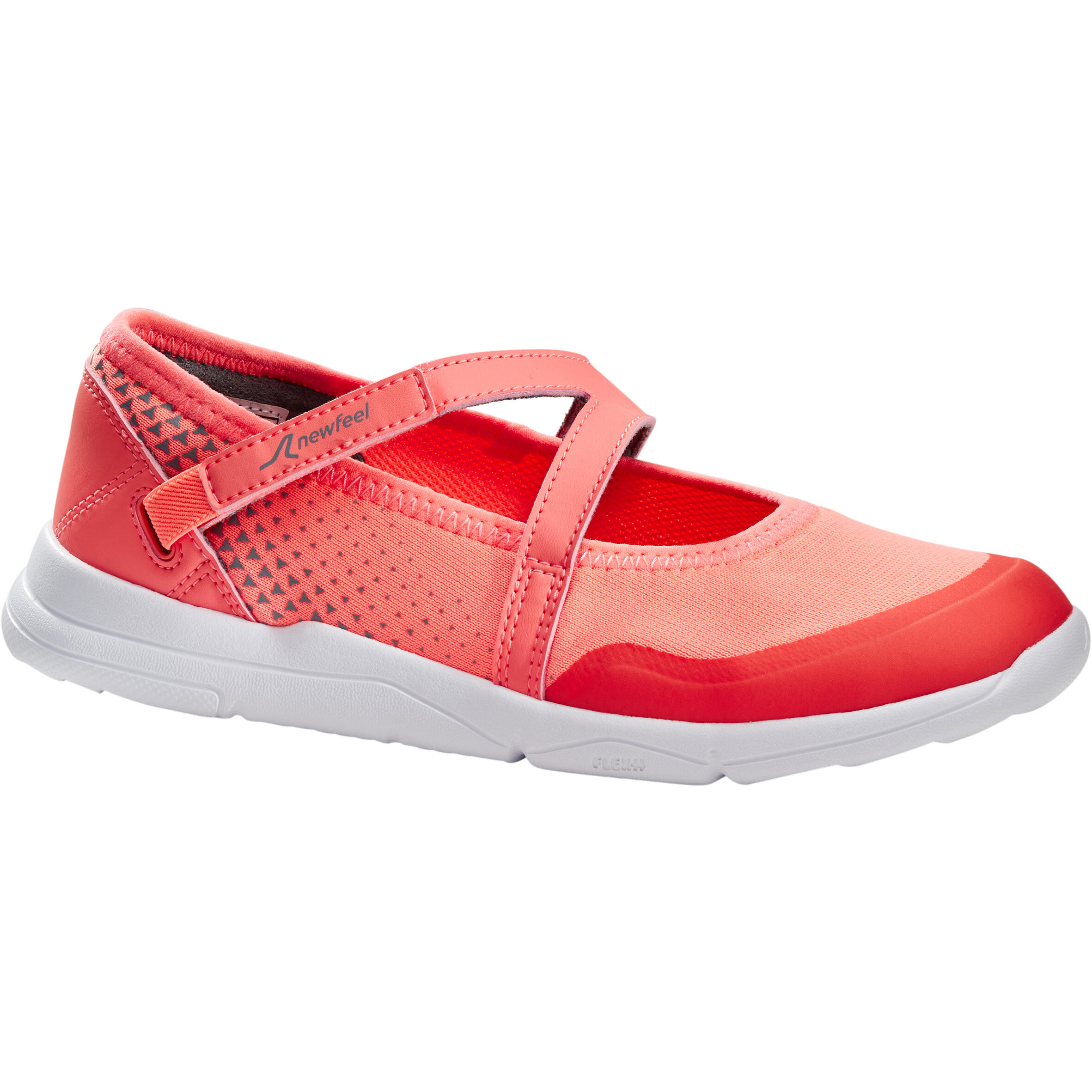 Chaussures marche fille pw 160 breasy corail newfeel