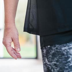 女款皮拉提斯與溫和健身T恤530 - 靛藍色