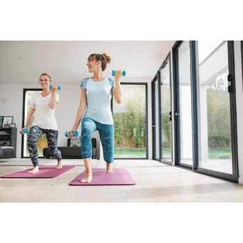 T-shirt 520 pilates en lichte gym dames lichtblauw
