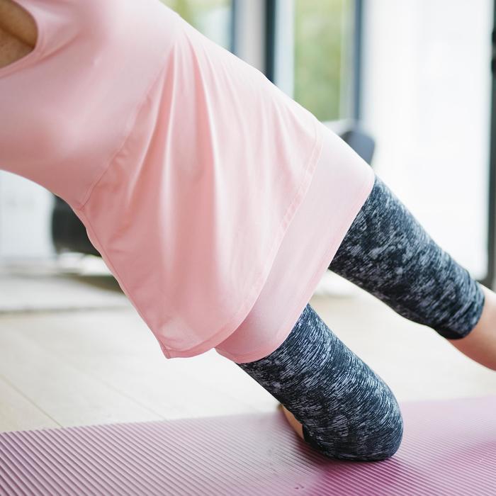 T-shirt 530 pilates en lichte gym dames roze