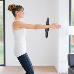 Débardeur 560 Pilates Gym douce femme noir/gris AOP