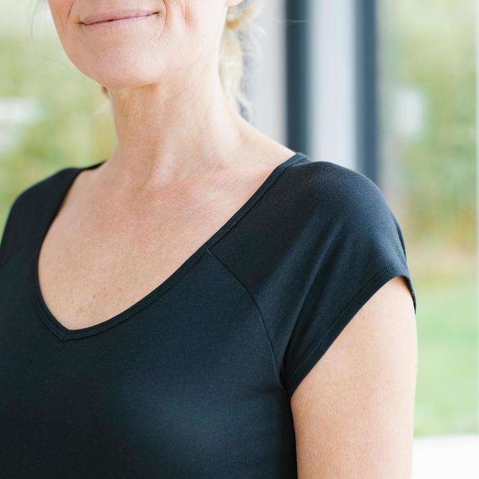 T-shirt 530 pilates en lichte gym dames zwart