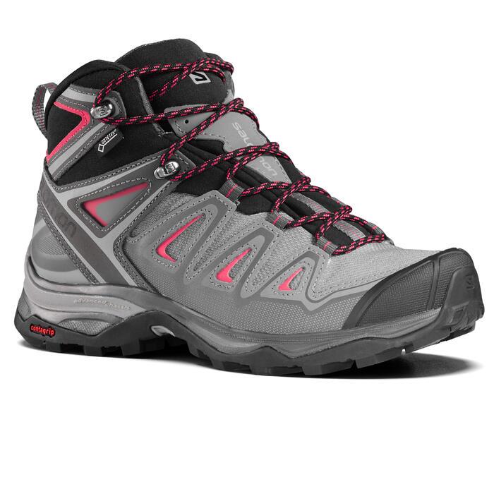 sneakers for cheap c01d8 721b0 Wanderschuhe X-Ultra Mid Gore-Tex Damen grau/rosa