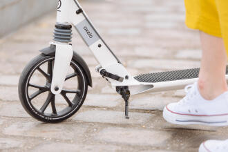 close-up of a town scooter