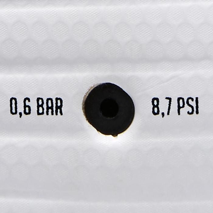 Zaalvoetbal 500 hybride maat 4 wit/geel