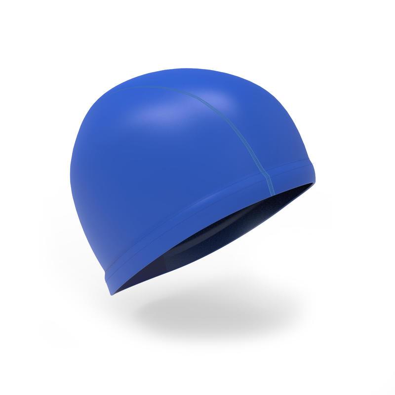 Silicone Mesh Swim Cap - Blue