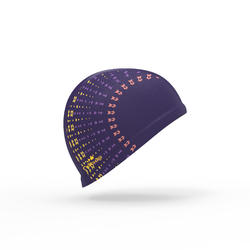Mesh Print Swim Cap, Size L - Eve Purple