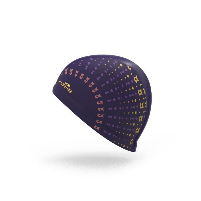 Gorro de natación punto estampado talla L Eve violeta