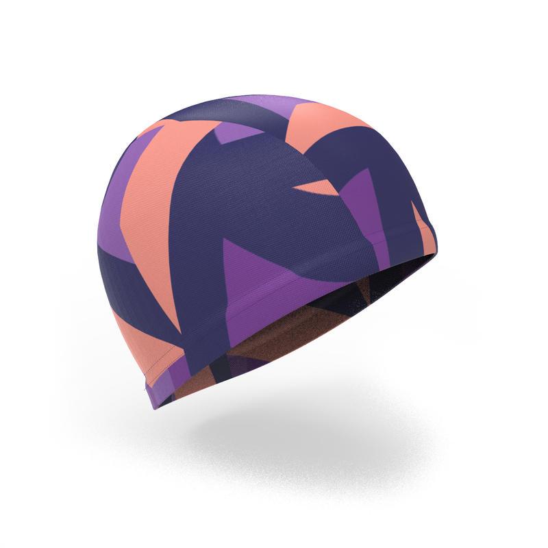 Swim Cap Mesh Large - Printed Coral Purple