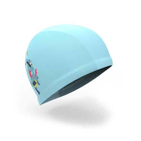 Topi Renang Motif Mesh, Ukuran S - Dragon Blue