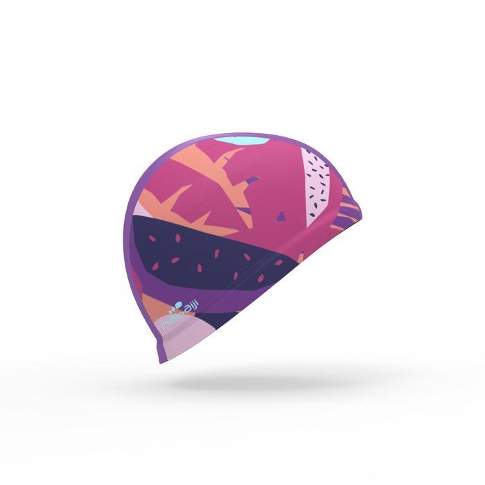 Gorro de natación punto estampado talla S Veg rosa