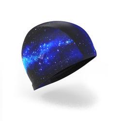 Bonnet de bain maille print taille L Cosmo bleu