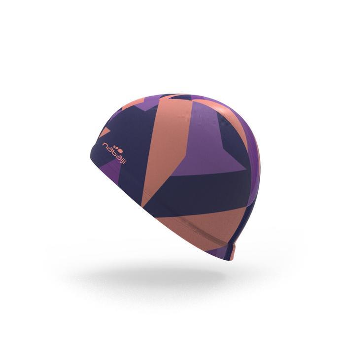 Bonnet de bain maille print taille L Sta corail