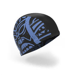 Swim Cap Mesh Large - Printed Blue