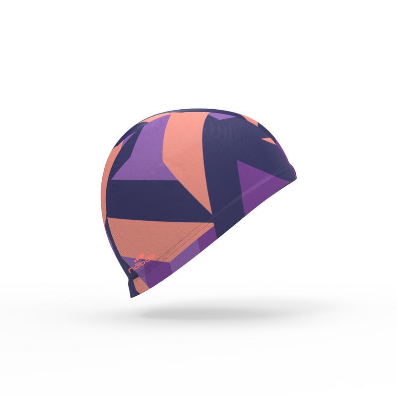 Mesh Print Swimming Cap, Size L - Sta Coral