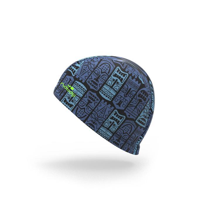 Bonnet de bain maille print taille S Tiki bleu