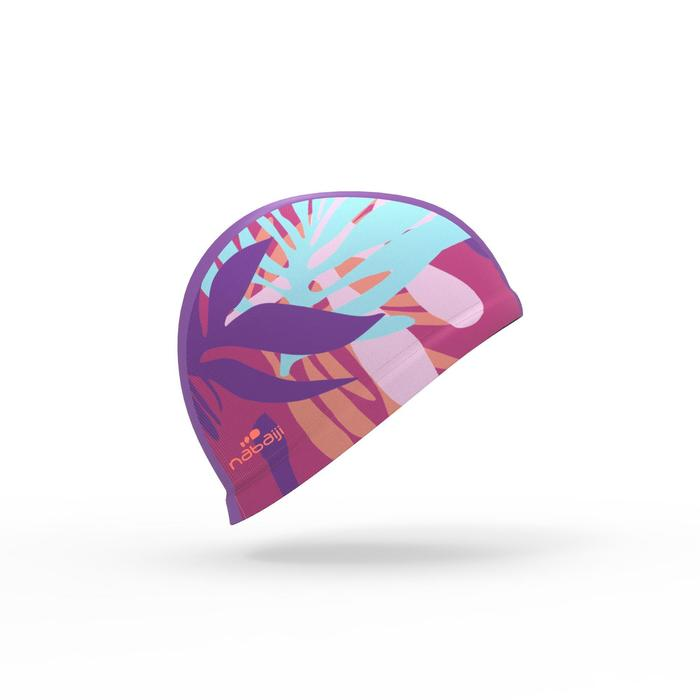 Stoff-Badekappe L Print rosa