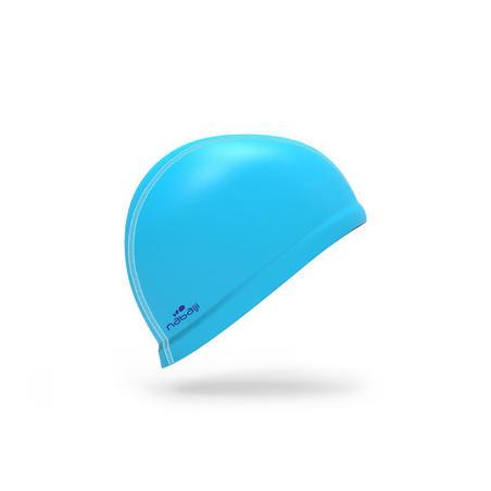 Silicone Mesh Swim Cap - Light Blue