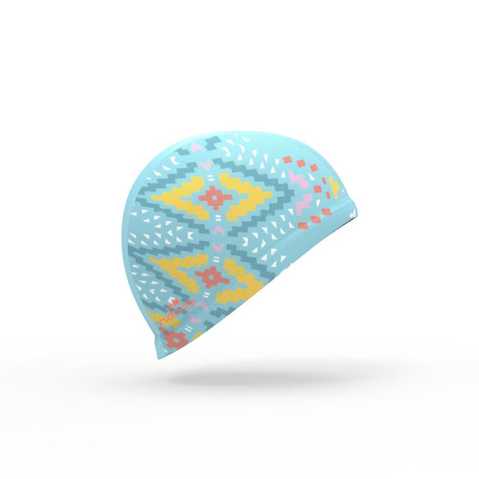 Bonnet de bain maille print taille S Etnic bleu