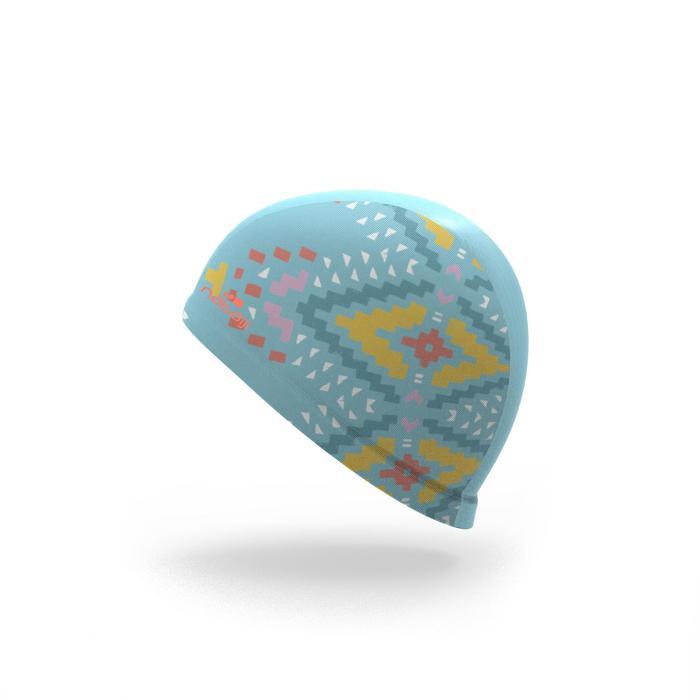 Textielbadmuts met print S Etnic blauw