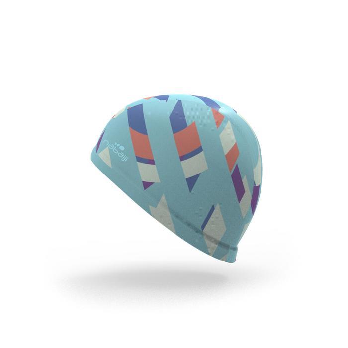 Textielbadmuts met prints maat L blauw