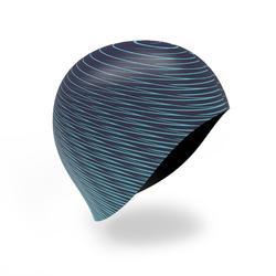 矽膠印花泳帽500藍色