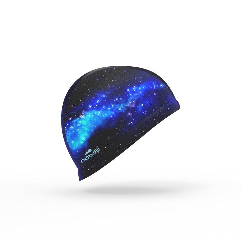 Swim Cap Mesh Large - Printed Cosmo Blue