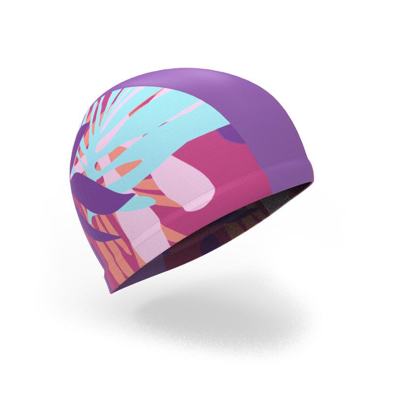 Gorro de natación punto estampado talla G Pie rosa
