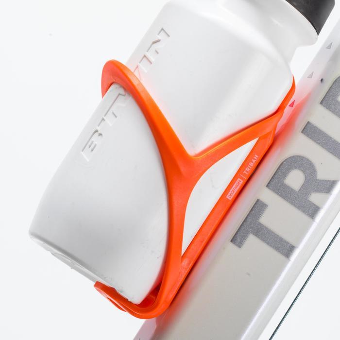 Portabidón Bicicleta Triban 500 Naranja Flúor Plástico