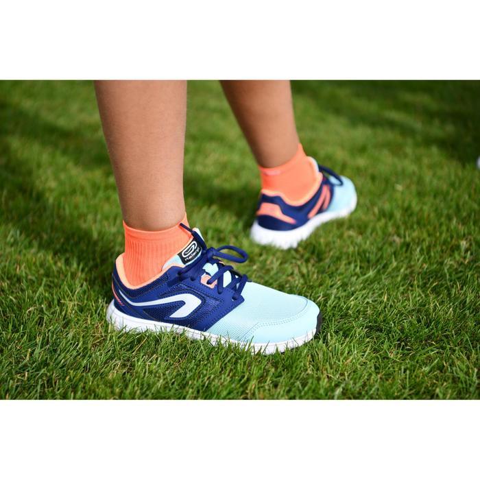 Laufschuhe Run Support Kinder Schnürung blau/türkis