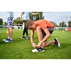 Atletiekschoenen kinderen Run Support veters zwart/grijs/rood
