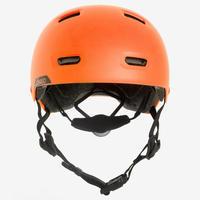 Casque patin à roulettes, planche à roulettes, trottinette MF540 orange fluo
