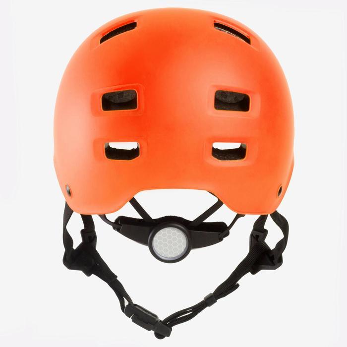 Casque roller skateboard trottinette MF540 orange fluo