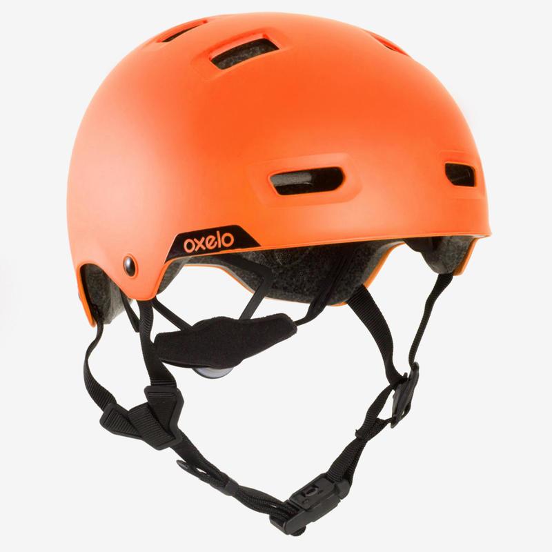 MF540 de Patinage de la planche à roulettes Casque de scooter doit rester - Orange fluo - 59-62cm