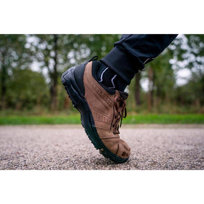 Herensneakers voor sportief wandelen Nakuru Comfort leer bruin