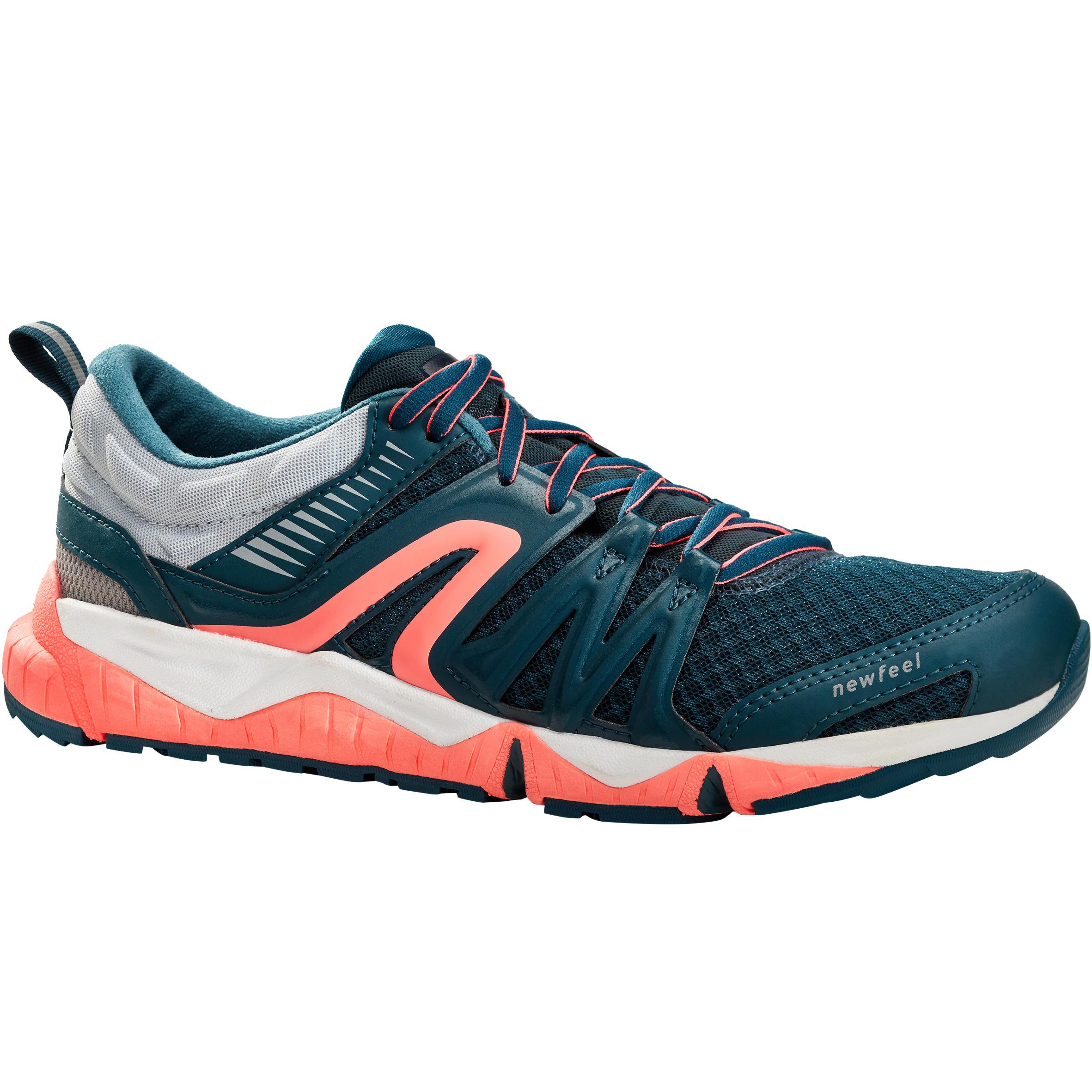 Newfeel Herensneakers voor sportief wandelen PW 900 Propulse Motion grijsblauw