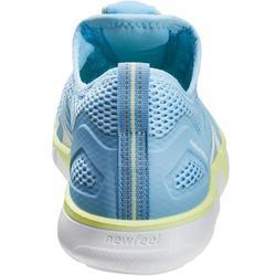 Damessneakers voor sportief wandelen PW 500 Fresh blauw / geel