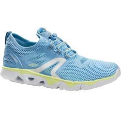Zapatillas de marcha deportiva para mujer PW 500 Fresh azules / amarillas