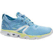 Tenis de caminata deportiva para mujer PW 500 Fresh azules / amarillas